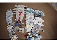 0-3 months boys clothes bundle (31 items plus)