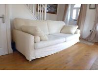 Sofa Jumbo Bellini John Lewis Oyster colour 3 seater sofa ,