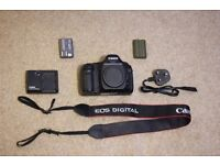Canon 5D DSLR Camera Body + Battery Charger + Batteries