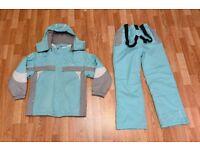 Trespass Girls aged 9-10 Ski Jacket Coat and Salopettes Trousers Set