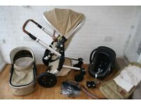 Joolz Day Earth Camel beige pram with cybex car seat travel system 3 in 1 *can post*
