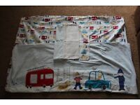 Two Boys Cotbed Duvet cover and pillowcase sets