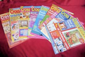 Cross Stitcher Embroidery Pattern Cross Stitch Sewing Magazines/Books, 10 BOOKS, Histon