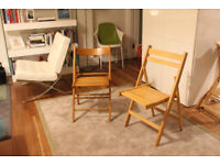 2 Wooden Folding Chairs £5 each (£10 the pair) - Very good condition