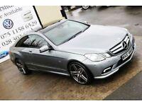 LATE 2011 MERCEDES E250 CDI BLUEEFF SPORT AUTO 204 BHP COUPE *NIGHT ED SPEC* (FINANCE & WARRANTY)