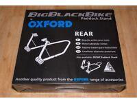 Paddock stand Big black bike Oxford, mint condition