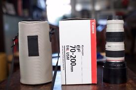 Canon EF L - Series 70-200mm F4 lens Excellent condition - Boxed