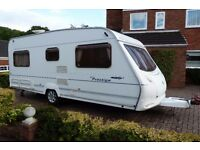 Ace Prestige 55 4 berth touring caravan 2004 fixed bed in exerlent condition