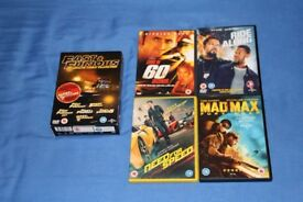Car themed action DVDs