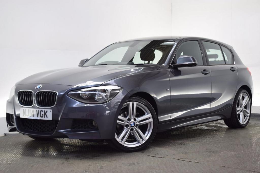 BMW 1 SERIES 2.0 118D M SPORT 5d AUTO 141 BHP (grey) 2014