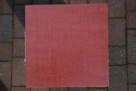 Italian Rolex Gres red porcelain floor tiles, 32cm x 32cm. 132 tiles, bargain at only £100.