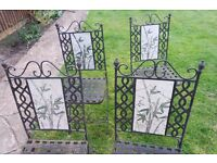 Wrought iron garden chairs