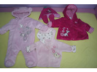 Baby Girl 0-3 months Winter jacket and suit