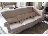 Cream Satin Sofa - Quick Sale