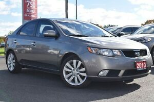 2010 Kia Forte SX | LEATHER | SUNROOF | CLEAN CARPROOF