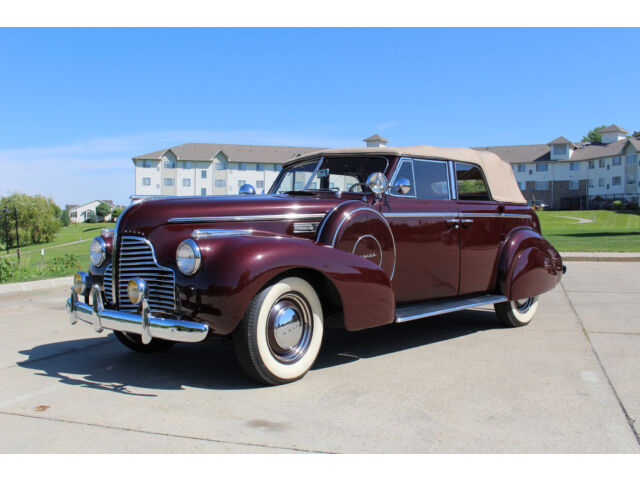 Buick : Other 41C 1940 buick special 4 dr convertible 41 c phaeton burgundy 248 ci 3 speed
