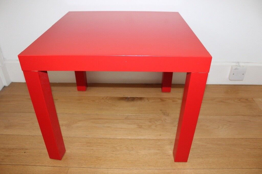 Ikea Lack Red Side Table
