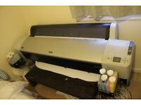 Epson 9800 Stylus Pro Wide Format Printer + canvas rolls + inks + stretcher bars. biz in a box ready