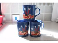 3 VINTAGE RETRO TIMEOUT CERAMIC MUGS BY CADBURYS CHOCOLATE