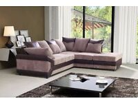 JUMBO CORD FABRIC DINO RANGE CORNER SOFAS AND 3 + 2 SEATER SUITES