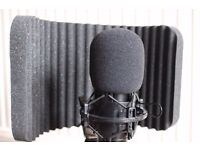PRO Studio Condenser microphone, and Vocalist reflector booth BARGAIN