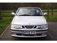 SAAB 9-3 CONVERTIBLE 2.0t SE 12 MONTHS MOT FULL SERVICE HISTORY FUTURE CLASSIC