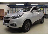 Hyundai ix35 CRDI SE NAV [SAT NAV - LEATHER - BLUETOOTH] (glacier silver metallic) 2013