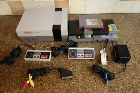 NINTENDO NES + GAMES + EXTRA CONTROLLER -WORKING. - snes, super, n64, gamecube , sega