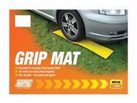 2 X Yellow Grip Mat Caravan Trailer Vehicle Tyre Wheel Anti Slip Matt Maypole MP 536