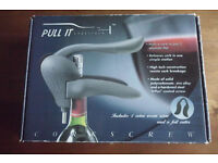 "BRAND NEW PROFESSIONAL SOMMELIER's CORKSCREW WINE OPENING TOOL by "" PULL IT "" in the ORIGINAL BOX"