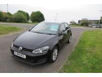 VOLKSWAGEN GOLF 1.6 SE TDI BLUEMOTION TECHNOLOGY DSG 2014AUTO,£20 Road Tax,72mpg,Alloys,Cruise,F.S.H