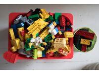 Mixed selection of Lego Duplo Building blocks/ base plates
