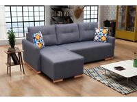 SCANDINAVIAN SETTEE MODERN COUCH CORNER SOFA BED storage
