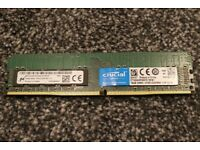 16GB Crucial DDR4 ECC Desktop/Server Memory