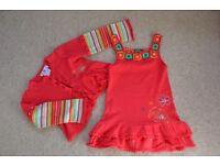 Designer dress set by Deux par Deux Size 1,5-2 NEW