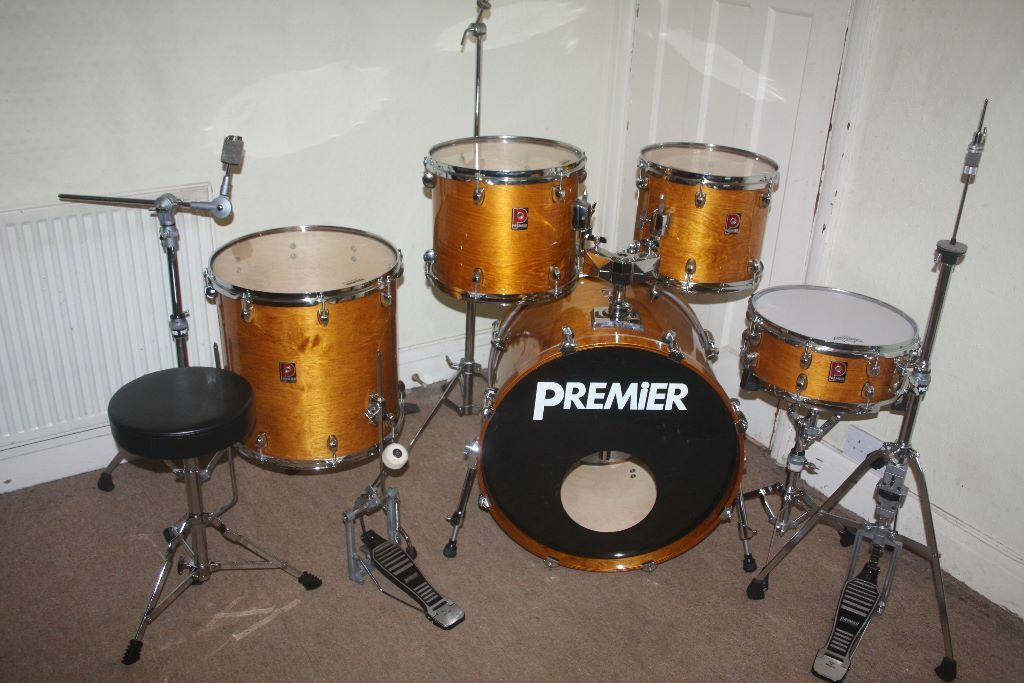 Premier xpk lacquered birch and eucalyptus woods 5 piece for 13 inch floor tom