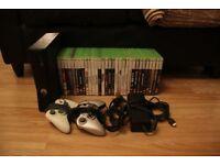 Xbox 360 Slim 250GB, 2 Controllers, 31 Games. £120