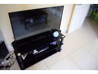 Black Glass TV Stand,