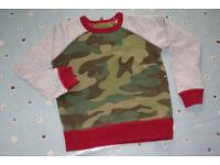 Mini Boden Boys Long Sleeve Raglan Top, Size 4-5 Years