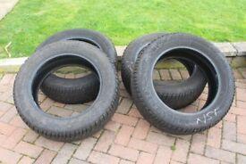 Winter tyres Gislaved 18inch used on Honda CRV