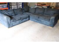 LARGE CARGO CORNER SOFA BED WELL USED POSSIBLE STUDENTS CHILDREN RENOVATION RE-UPHOLSTRY PROJECT