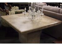 Large square marble dining table