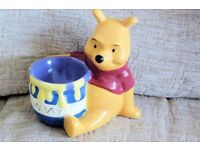 Child's NEW Disney Winnie The Pooh and Hunny / Honey Pot Egg Cup, Histon