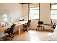 Desk spaces to rent in creative co-working. HACKNEY ROAD / SHOREDITCH.