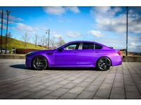 BMW 520D SE, Full M5 Conversion with Beautiful Satin Purple Wrap, Remapped, Custom Exhaust, XENONS