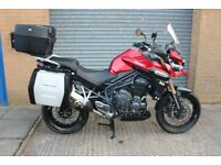 Triumph Tiger Explorer 1200 ABS Full Triumph Luggage, Heated Grips, Cruise Control, Candy Red, 4232m
