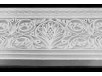 Moroccan Style Cornice Coving SIZE 145cm L, 24 H. Moroccan Gypsum Plaster Coving