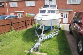 Fletcher vigo 18ft cabin cruiser/fishing boat For sale
