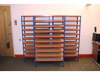 3 x Warehouse Shelves - 10 Shelves per Rack
