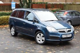 2006 VAUXHALL ZAFIRA 1.6 PETROL 7 SEATER*3 MONTHS WARRANTY*RECOVERY & BREAKDOWN COVER*LOW MILEAGE*